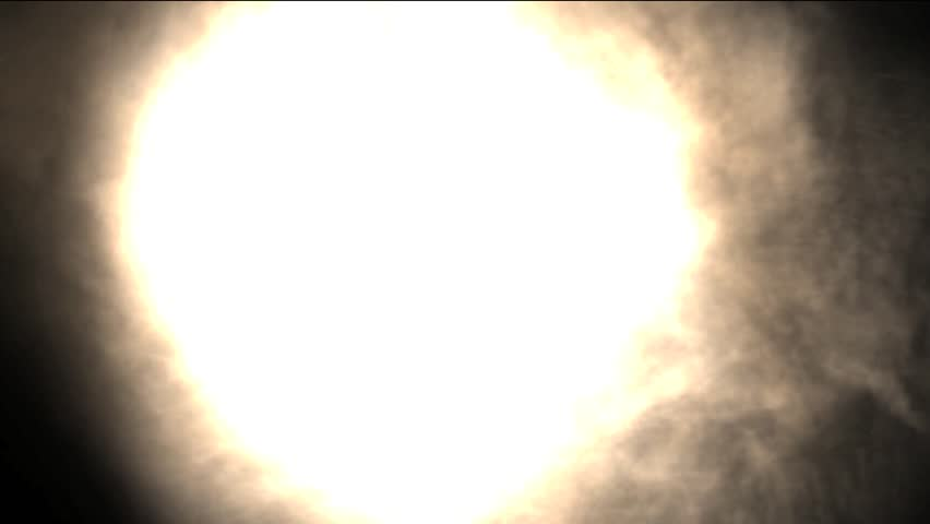 HD particle effects simulating fire, smoke and flames on black background - HD stock video clip