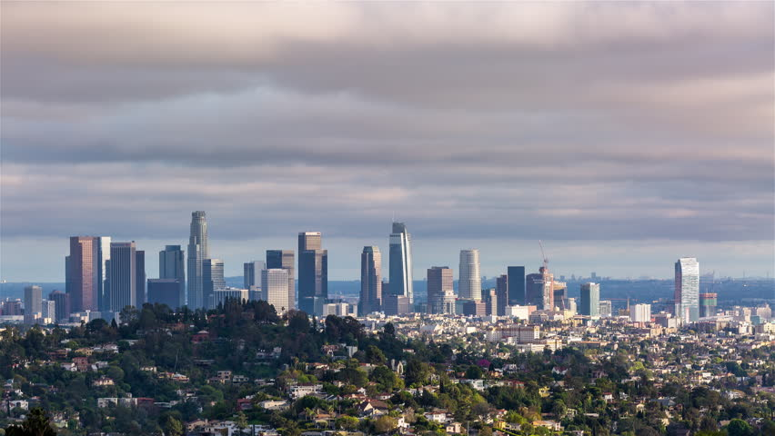 Los Angeles, California, USA - February 6th 2017 - Downtown Los Angeles and Griffith Park Winter Day Timelapse | Shutterstock HD Video #28125625