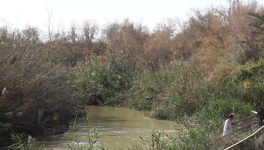 ... January 18 2012; QASR AL YAHUD, ISRAEL JANUARY 18: Greek Orthodox pilgrims baptize during the Epiphany at