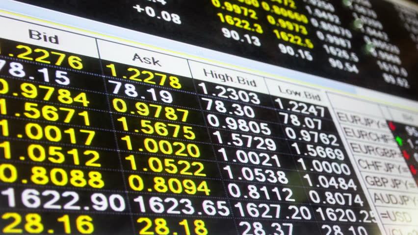Stock Market board ,time lapse