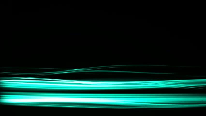 Fancy Light Effects In A Dark Background Stock Footage: Modern Glowing Light Streaks Motion Effect On Black