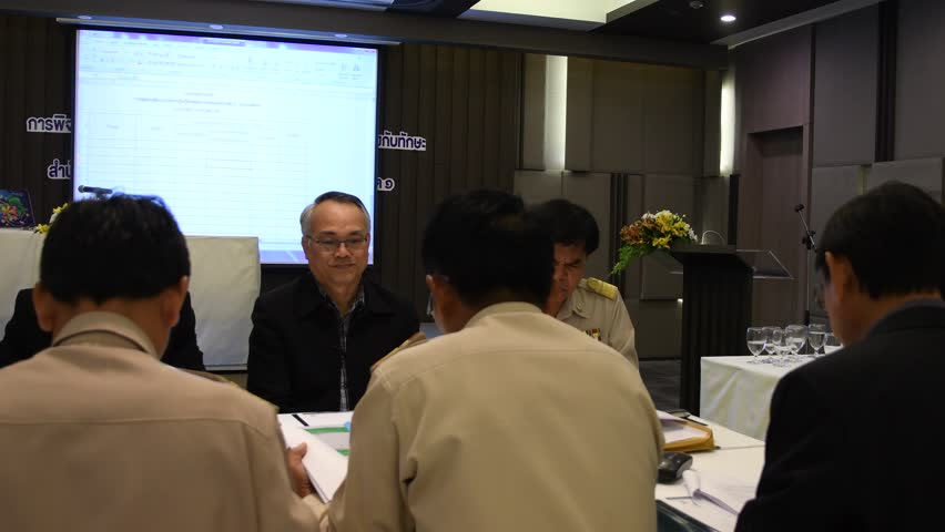 NAKHONRATCHASIMA, THAILAND-JULY 3: Group of primary school director and teachers in academic papers evaluation and rewarding activities, July 3, 2017 in Nakhonratchasima, Thailand.  | Shutterstock HD Video #28410304