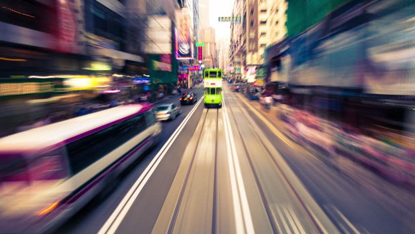 Hongkong,China - August 2th,2012: traffic through the streets of Hongkong