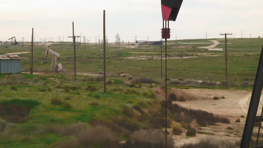 Close-Up View, Of Oil Pumping From Ground - HD stock video clip