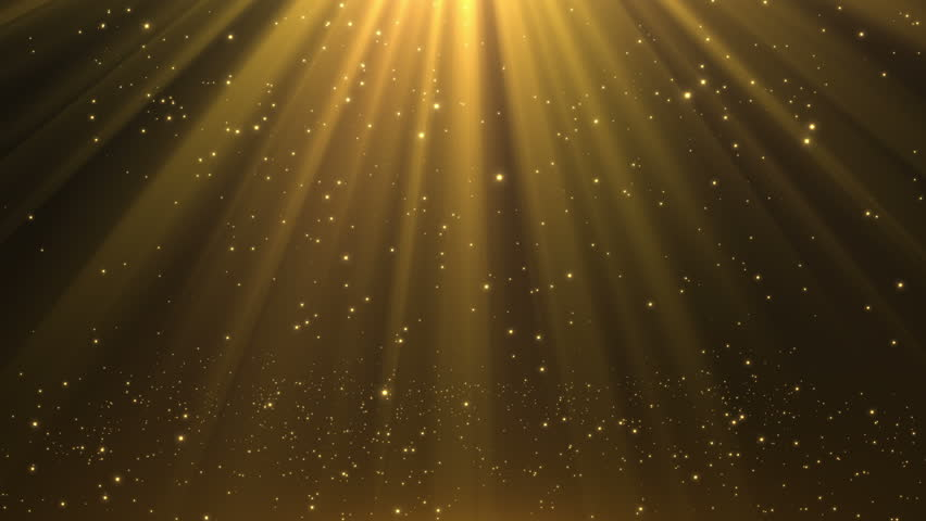 Raining Orbs of Light | Twinkling Glowing Particles falling from the Sky with Beautiful Rays of Light Seamless Looping Animated Motion Background Video Backdrop Gold Golden | Shutterstock HD Video #28708339