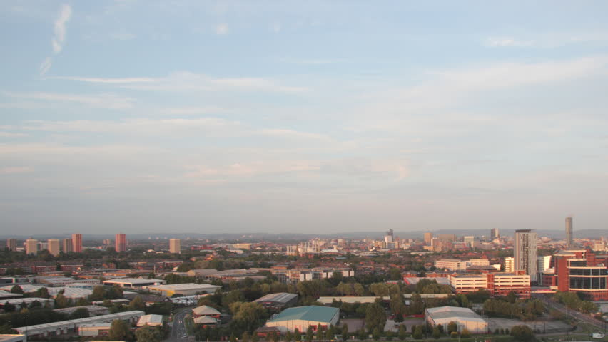 Manchester day-night timelapse (static). A timelapse of day-night transition captured in Manchester, United Kingdom