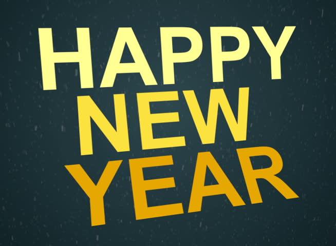 Happy new year animation