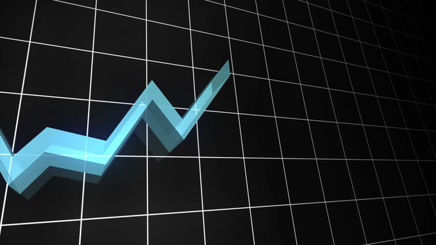 3D Loopable line graph in light blue. Also available in green, red, orange, yellow and purple. (See Contributor Image Gallery) - HD stock video clip