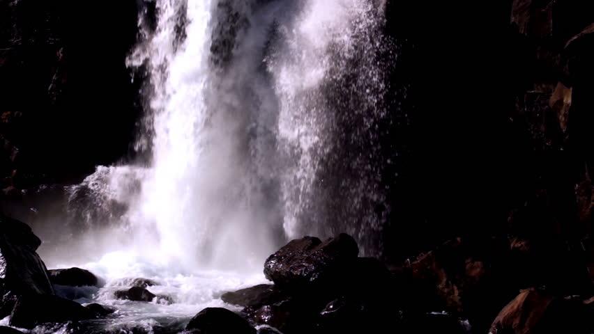 Icelandic waterfalls - HD stock video clip