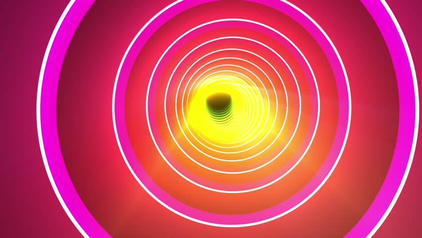 Fast Spectacular Colorful Rings Tunnel VJ Motion Background Loop 1 | Shutterstock HD Video #29007544
