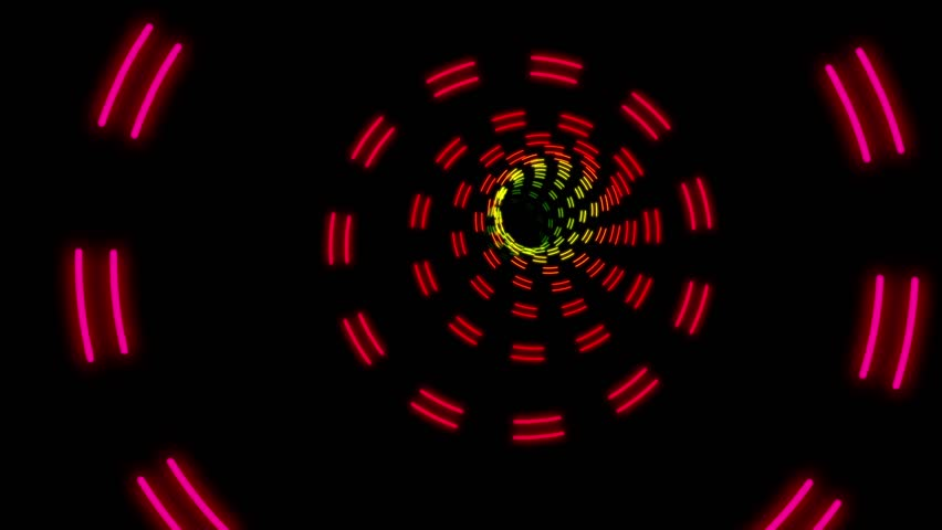 Marquee Colorful Rings Psychedelic Tunnel Ride VJ Motion Background Loop 2 | Shutterstock HD Video #29008543