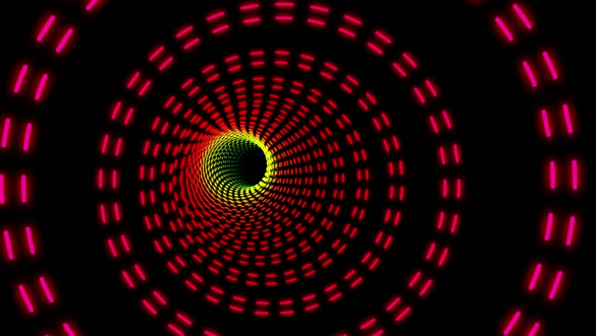 Marquee Colorful Rings Psychedelic Tunnel Ride VJ Motion Background Loop 3 | Shutterstock HD Video #29008552