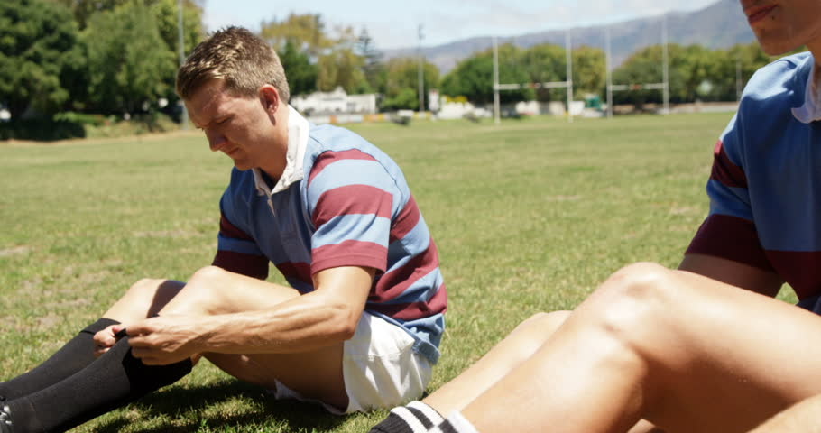 Rugby player preparing for the game on a sunny day | Shutterstock HD Video #29209459