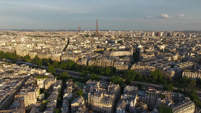 Paris Skyline Aerial View   | Shutterstock HD Video #29225812