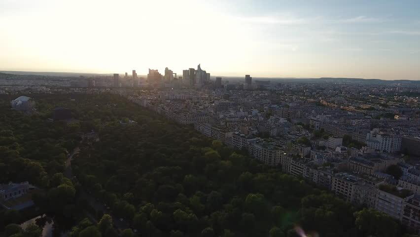 Paris Skyline Aerial View   | Shutterstock HD Video #29225821