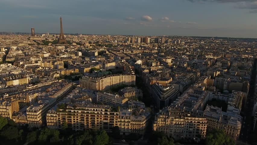 Paris Skyline Aerial View  | Shutterstock HD Video #29225866