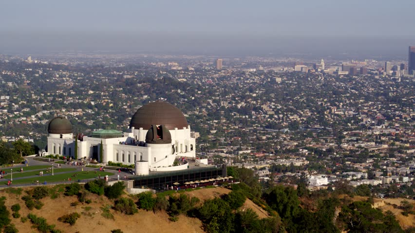 Griffith Park Observatory and view of Downtown Los Angeles   Shutterstock HD Video #29228674