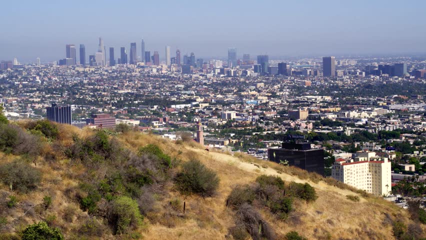 Hiking Runyon Canyon with a View of Los Angeles   Shutterstock HD Video #29228755