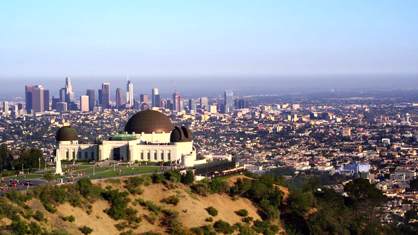 Griffith Park Observatory and view of Downtown Los Angeles   Shutterstock HD Video #29228818