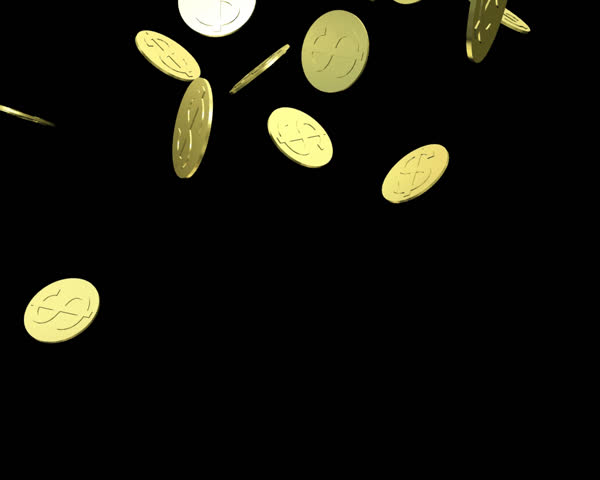 gold coins black background - photo #34