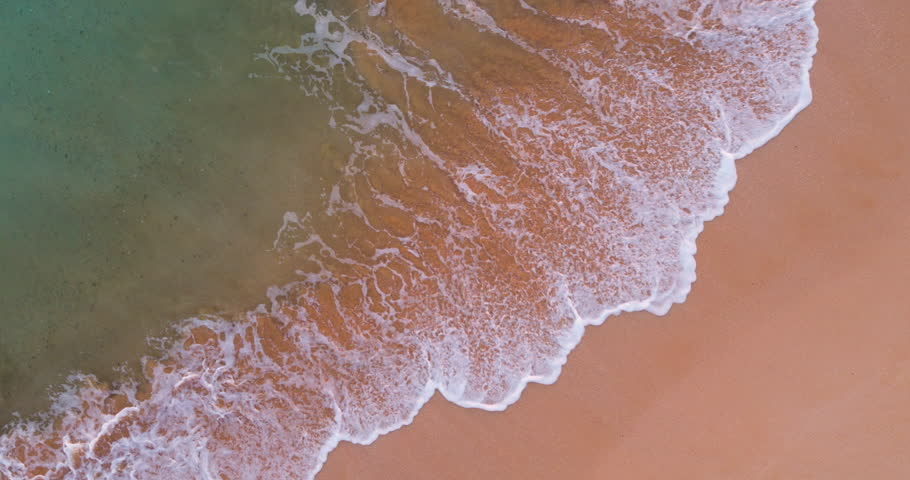 Aerial View Ocean Waves Crashing On Shoreline On Summer Beach Day | Shutterstock HD Video #29503183