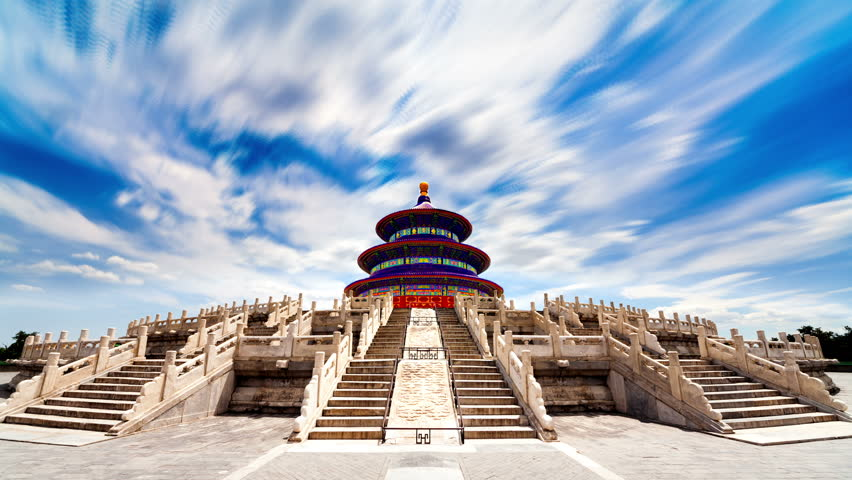 Beautiful Scene of Beijing: Temple of Heaven, Beijing, China. Timelapse | Shutterstock HD Video #2977303