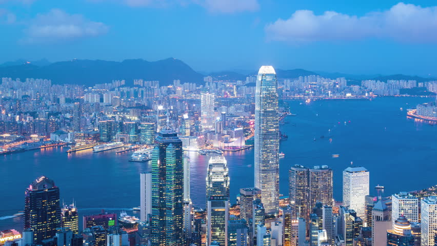 Time laspe of city in Hong Kong at night  | Shutterstock HD Video #29844580