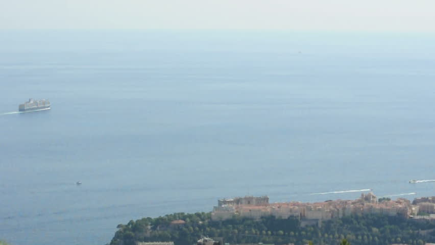 Oceanographic museum of Monaco and cruise ship | Shutterstock HD Video #2987500