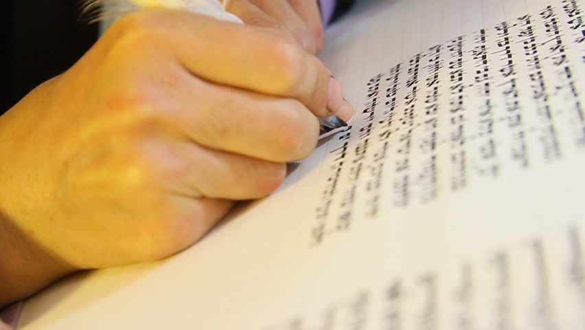 Special Writing a Torah-Book. Skillful and very rare method used thousands  of  years ago. Is the specific Jewish traditional writing with which Sifrei Torah, Tefillin the Five Megillot are written.