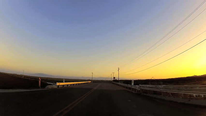 Driving down highway at sunset - POV | Shutterstock HD Video #2992063