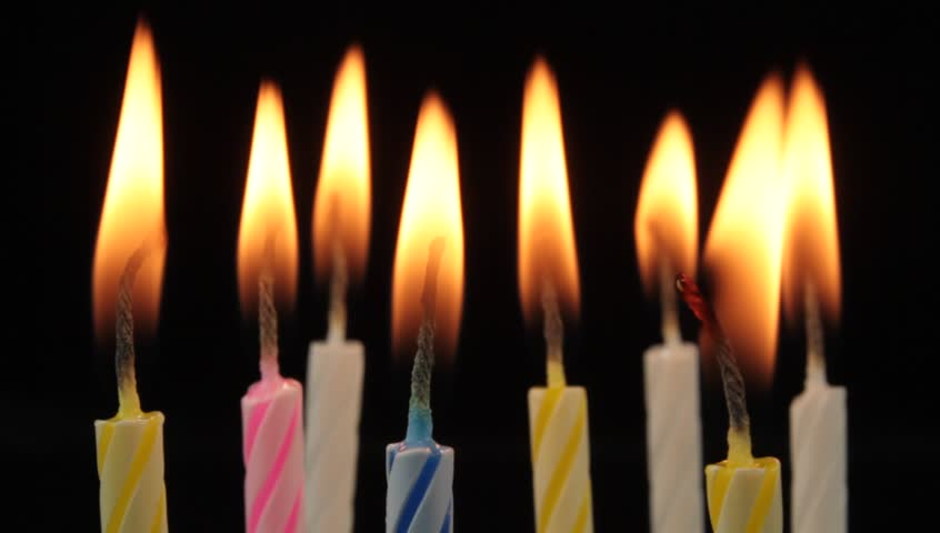 Burning Birthday Candles. Stock Footage Video 2993941 ...