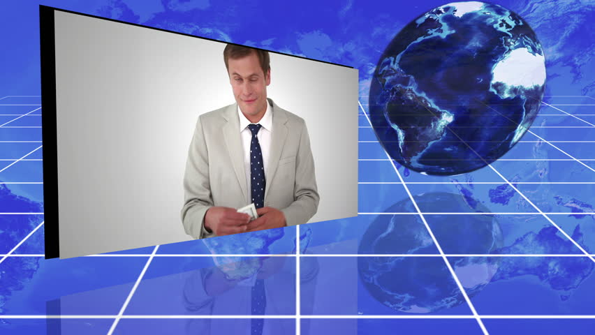 Animation Of People In Suit Holding Money With An Earth ...