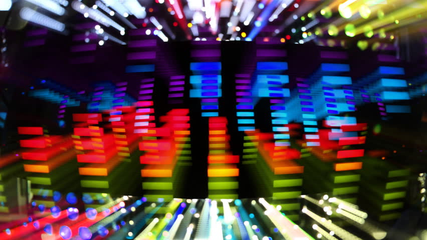 Music graphic equalisers and audio analysis clip. shot from the display of a stereo hifi system | Shutterstock HD Video #3010558