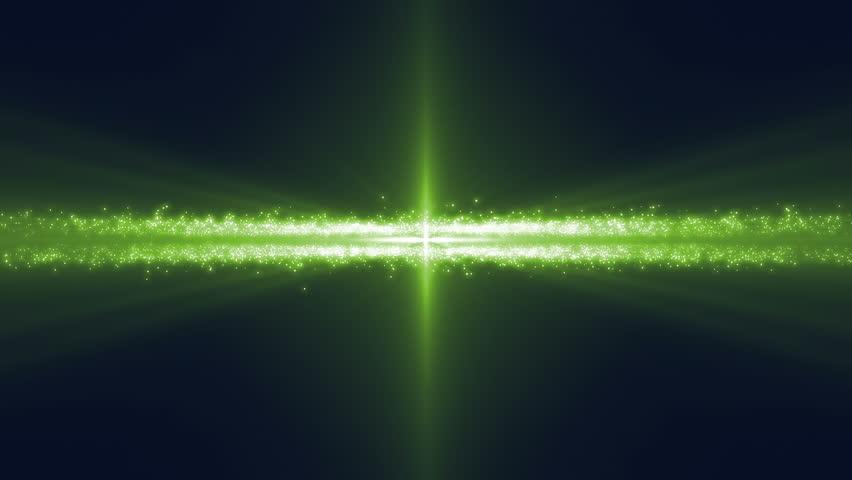 Spaceship In Asteroid Belt Under Green Light Getting ...