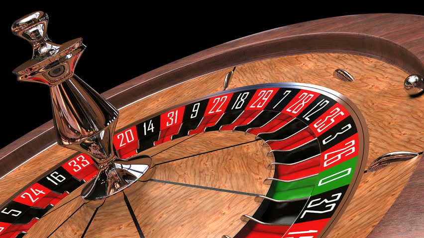 roulette wheel spinning animation