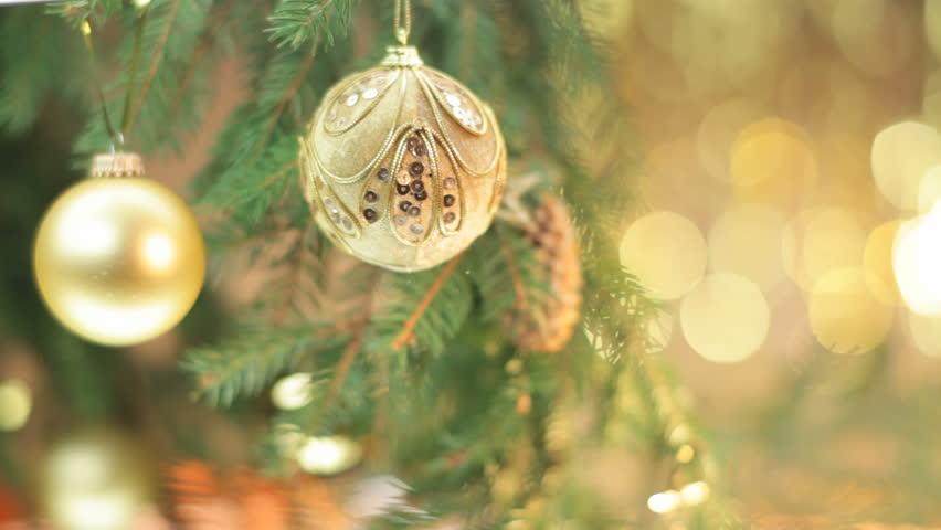 Christmas Balls on Christmas Tree | Shutterstock HD Video #3025588