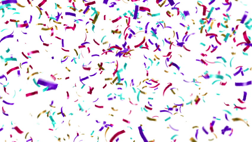 Animation of colorful confetti falling. Loop ready animation. - HD stock footage clip