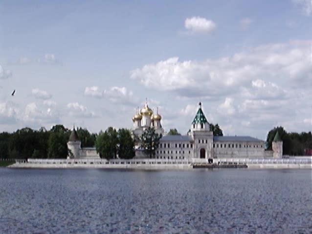 Ipatievsky  monastery. Russia, 18 century, Kostroma city - SD stock footage clip
