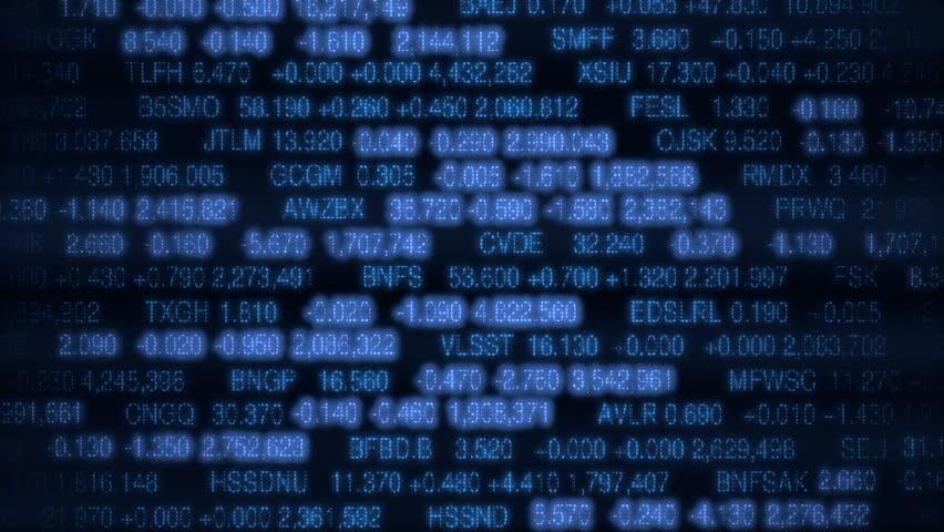 Stock Market Board (Loop ready)  - HD stock video clip