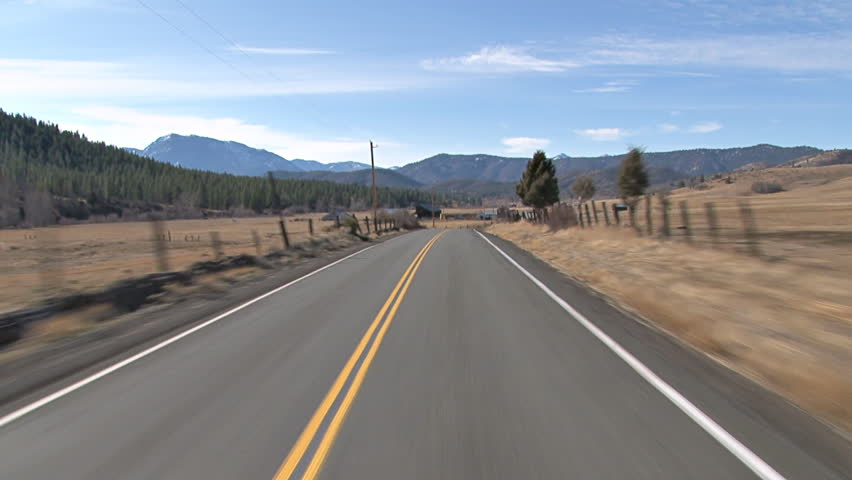 Driving towards the Trinity Siskiyou Mountains westward on Gazelle-Callahan Road