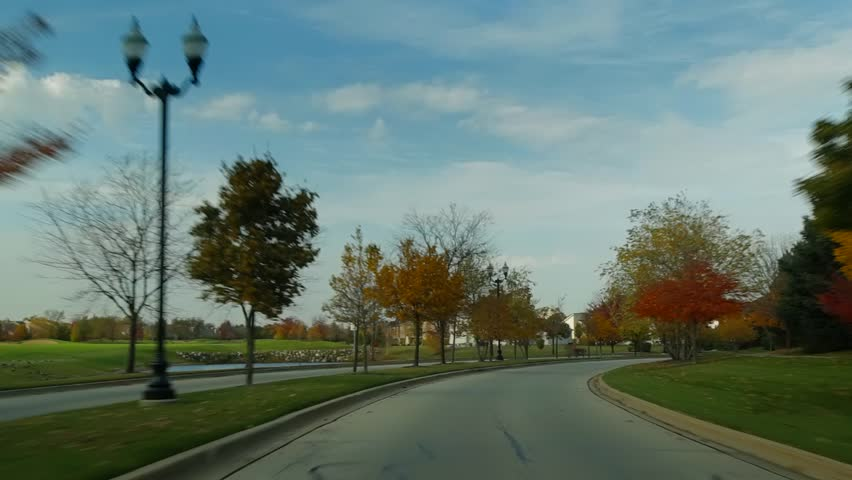 Autumn Drive 2. Driving car during autumn season - HD stock footage clip