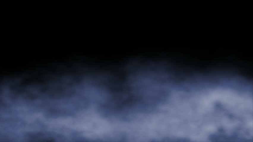 HD - Blue billowing ground fog swirls and flows across frame (Loop).