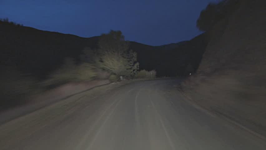 Timelapse fast driving POV shot, Mendocino National Forest, Bartlett Springs