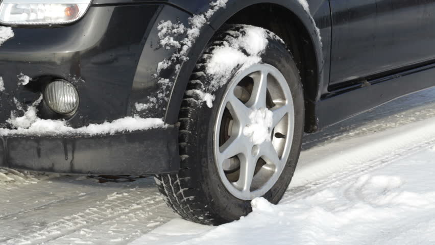 Starting Car Tires On Snow Stock Footage Video 3120079 Shutterstock