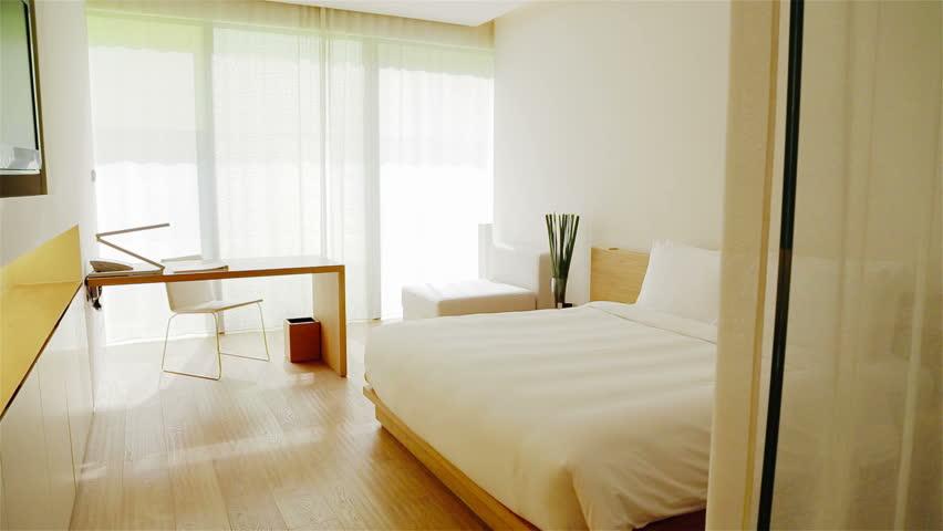 Luxury Apartment Interior. Track shot of a luxury apartment interior - HD stock video clip