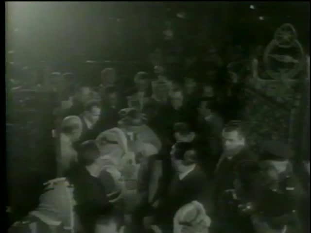 Pope Paul Sixth makes his way through the crowd to Church of the Holy Sepulchre in Old City of Jerusalem, January, 4 1964-MGM PICTURES, UNIVERSAL-INTERNATIONAL NEWSREEL, USA, filmed in 1964   - SD stock video clip