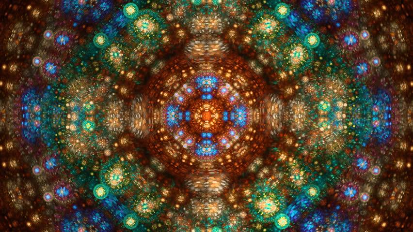 Multicolored decorative kaleidoscope mandala seamless loop - HD stock footage clip