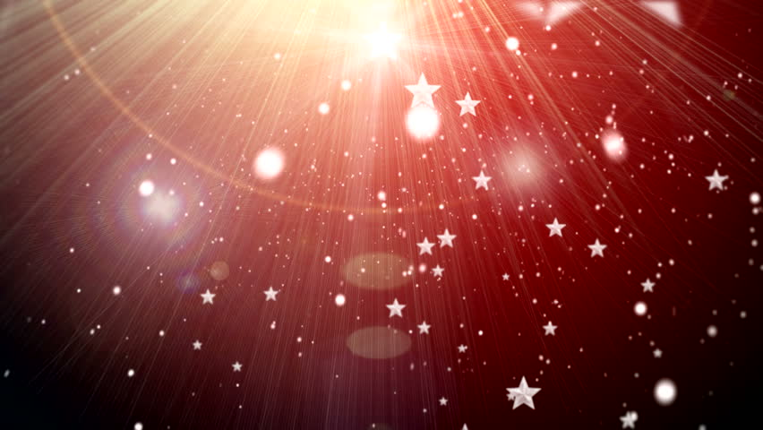 Star and snowflake and flashes background ( Series 3 - Version from 1 to 6 ) - HD stock footage clip