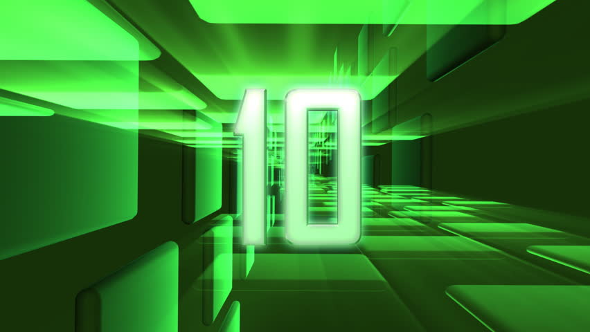 Counting down from 10 to 0. - HD stock footage clip