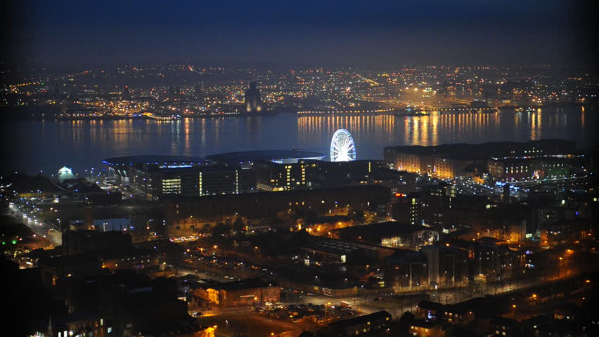 England city at night